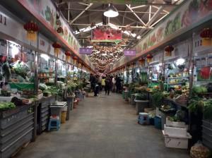 北京市内の生鮮市場