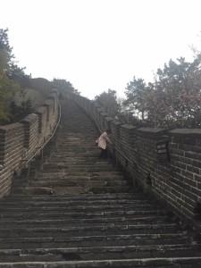 慕田峪長城の下り