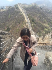 慕田峪長城の登り